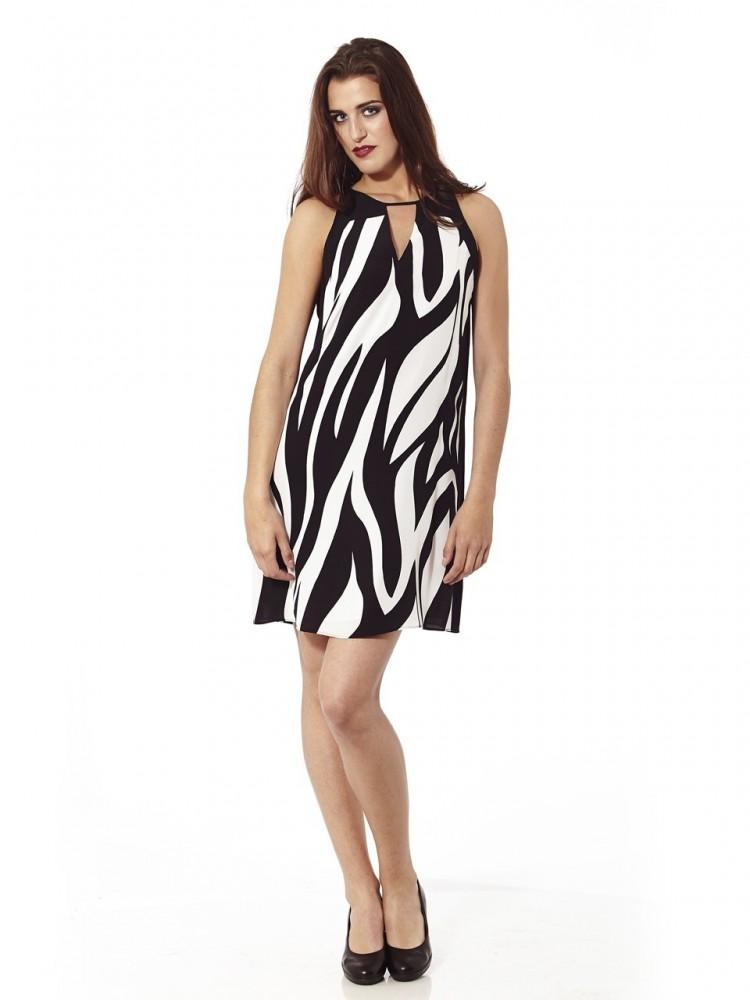 Imagenes de vestidos blanco con negro cortos