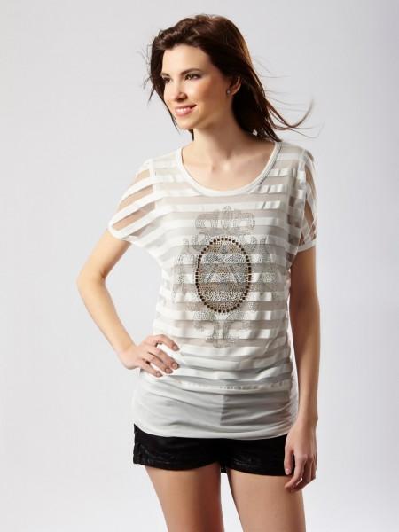 Camiseta franjas blanca