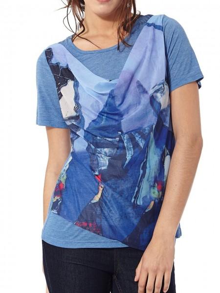 Camiseta doble azul