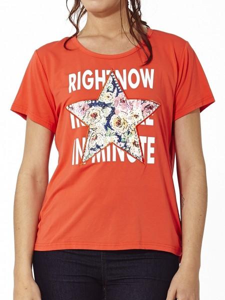 Camiseta rightnow brillante coral