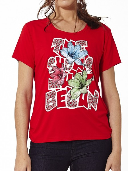 Camiseta shows brillante rojo