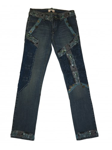 PANTALON TEJANO BORDADO