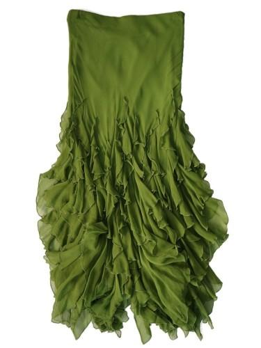 Falda volantes verde