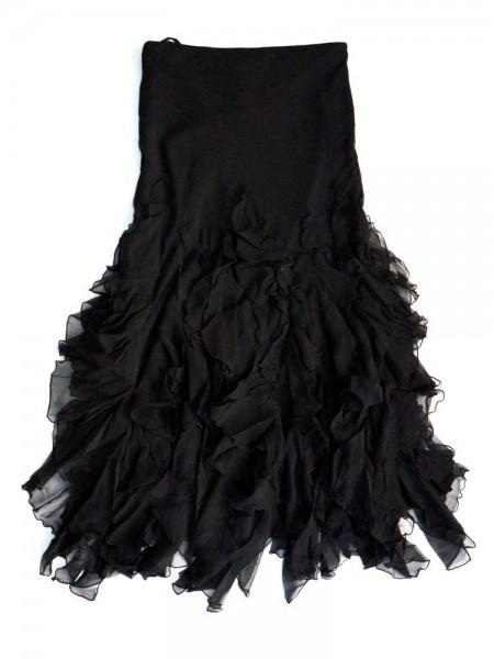 Falda volantes negra