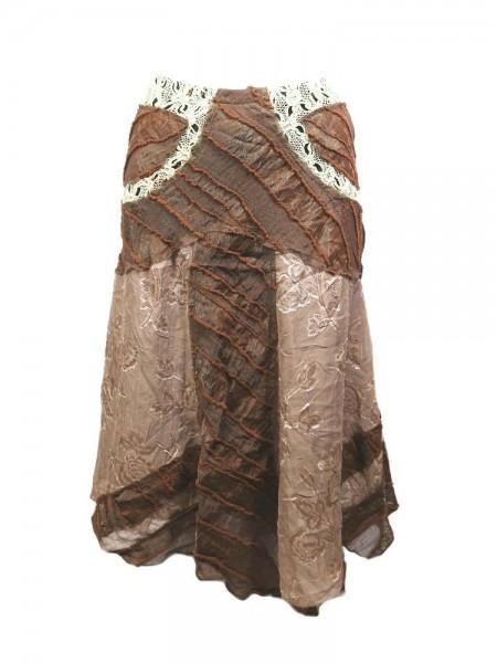 Falda brown 2