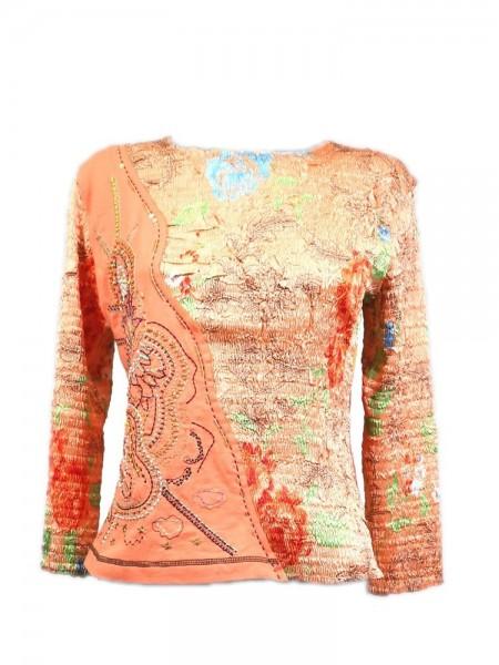 Camiseta plisada orange